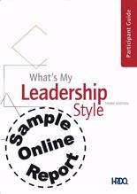 Picture of What's My Leadership Style - Online Sample Report