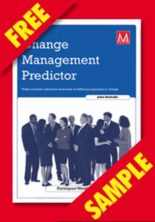 Picture of Change Management Predictor Participant Workbook (FREE PDF SAMPLE)
