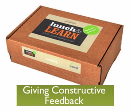 Picture of Lunch & Learn Trainer Pack - Giving Constructive Feedback