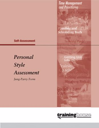 Picture of Personal Style Assessment Jung-Parry Form