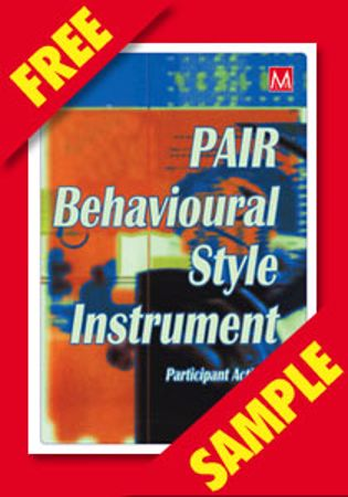 Picture of PAIR Behavioural Style Instrument (FREE PDF SAMPLE)