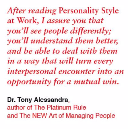 Picture of Personality Style at Work Book Sample