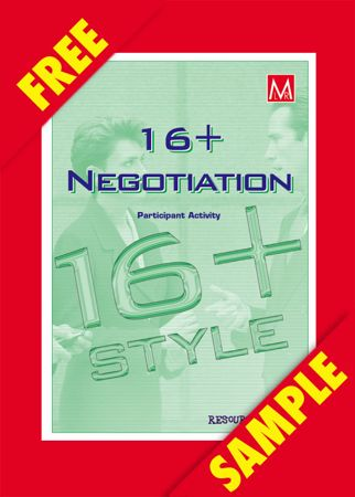 Picture of 16+Negotiation Style Profile Participant Activity (FREE PDF SAMPLE)