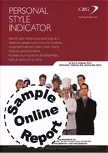 Picture of Personal Style Indicator - Online Sample Report