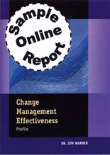 Picture of Change Management Effectiveness - Online Sample Report