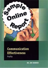 Picture of Communication Effectiveness Profile - Online Sample Report