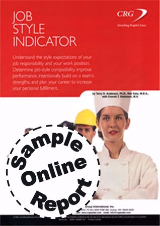 Picture of Job Style Indicator - Online Sample Report