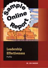 Picture of Leadership Effectiveness Profile - Online Sample Report