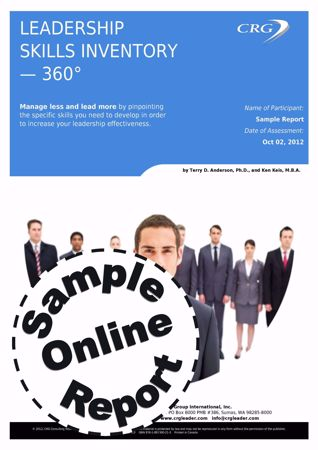 Picture of Leadership Skills Inventory 360 - Online Sample Report
