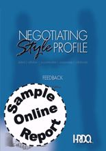Picture of Negotiating Style Profile-Feedback-Online Sample Report