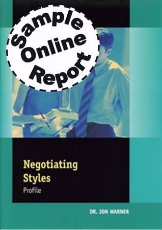 Picture of Negotiating Styles Profile Sample Online Report