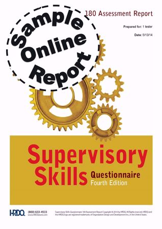 Picture of Supervisory Skills Questionnaire - Online Feedback Sample Report