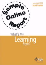 Picture of What's My Learning Style? - Online Sample Report