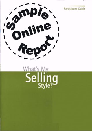 Picture of What's My Selling Style? - Online Sample Report